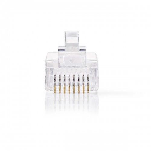 Conector de Red | RJ45 Macho - Para Cables CAT5 UTP Sólidos | 10 unidades | Transparente