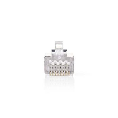Conector De Red | Rj45 Macho - Para Cables Cat5 U/ftp Sólidos | 10 Unidades | Metal