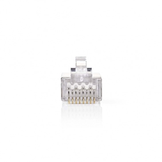 Conector de Red | RJ45 Macho - Para Cables CAT5 U/FTP Sólidos | 10 unidades | Metal
