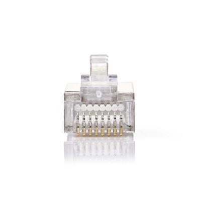Conector De Red | Rj45 Macho - Para Cables Cat5 U/ftp Trenzados | 10 Unidades | Metal