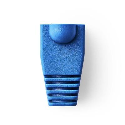 Funda Protectora Contra Tirones | Para Conectores De Red Rj45 - 10 Unidades | Azul