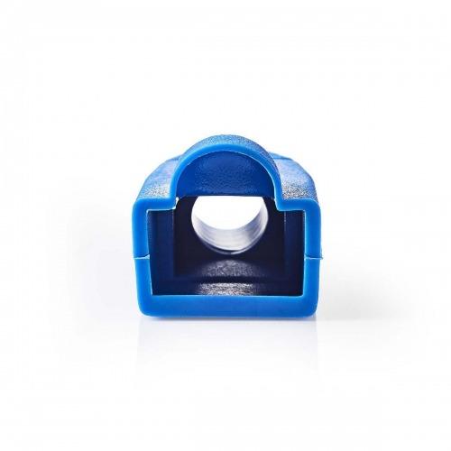 Funda Protectora contra Tirones   Para Conectores de Red RJ45 - 10 unidades   Azul
