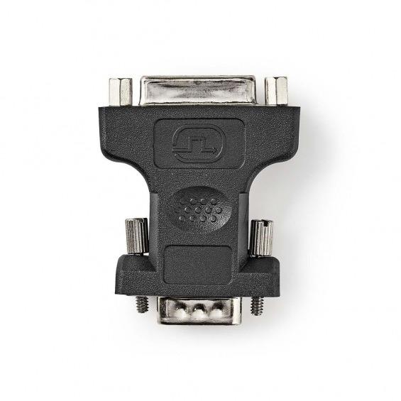 Adaptador VGA - DVI | VGA Macho - DVI-I Hembra de 24+5 Pines | Negro
