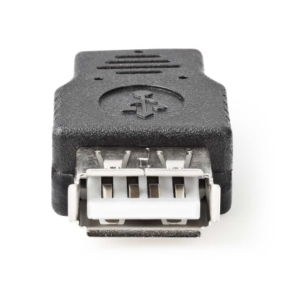 Adaptador Usb 2.0 | Micro B Macho - A Hembra | Negro