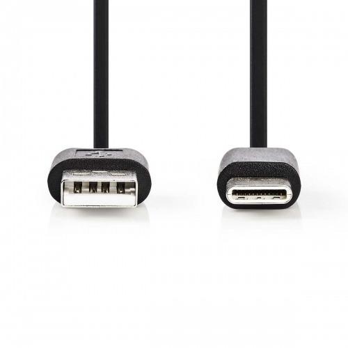 Cable USB 2.0 | Tipo C Macho - Tipo A Macho | 3,0 m | Negro