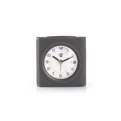 Reloj Despertador De Sobremesa Analógico | Luz | Gris