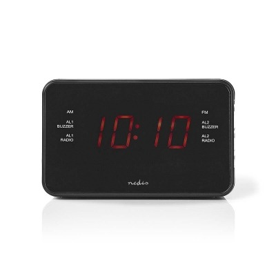 Radiodespertador Digital | Pantalla Led De 0,9