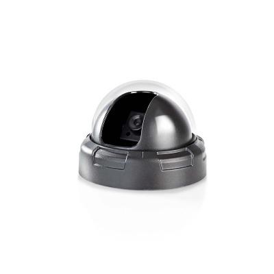 Cámara De Seguridad Simulada | Domo | Ip44 | Negro