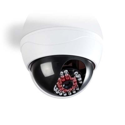 Cámara De Seguridad Simulada | Domo | Ip44 | Blanco