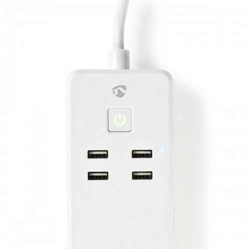 Regleta Wi-Fi Inteligente   3 x Schuko Tipo F   4x USB   16 A