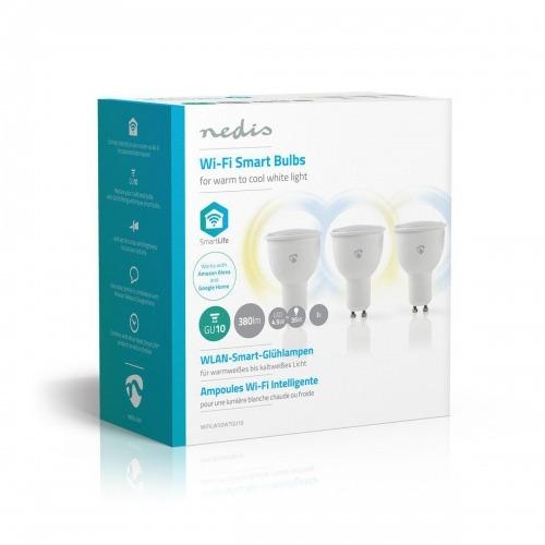 Bombillas LED Inteligentes con Wi-Fi | Blanco Cálido a Frío | GU10 | Paquete de 3 unidades