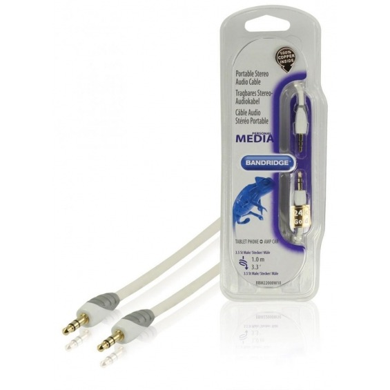 Cable de audio estéreo portátil de 1.00 m