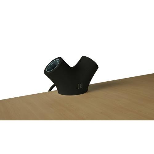 Zócalo de Extensión 2-Way 1.4 m Negro - 2 x Schuko / 2 x USB