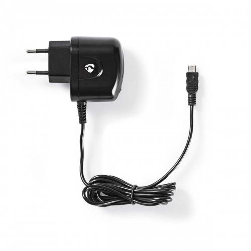 Cargador de Pared | 1,0 A | Cable fijo | Micro USB | Negro
