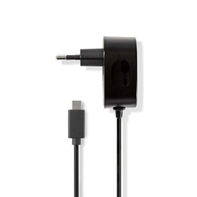 Cargador De Pared   3,0 A   Cable Fijo   Usb-C™   Negro