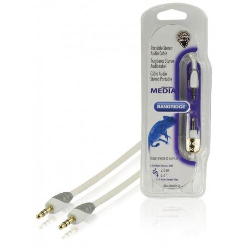 Cable de audio estéreo portátil de 2.00 m