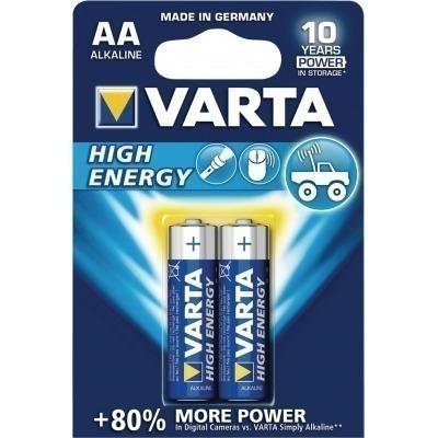 Pilas Alcalinas Aa/lr6 1.5 V High Energy En Blíster De 2 Pcs