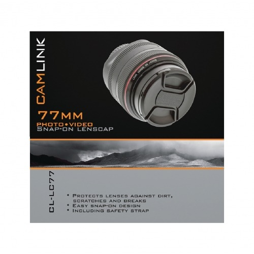Tapa de lente a presión de 77 mm