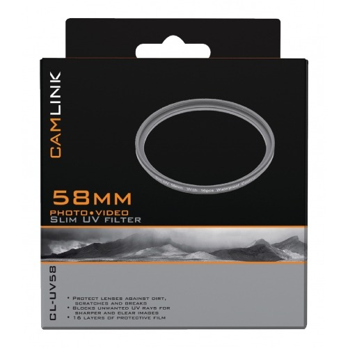 Filtro UV fino de 58 mm