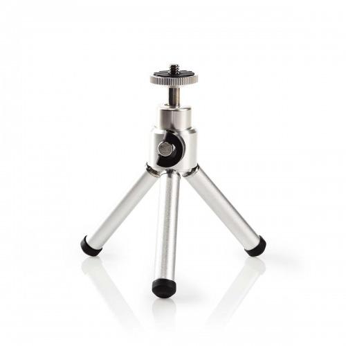 Minitrípode | Panorámica e Inclinación | Hasta 0,8 kg | 13,4 cm | Negro/plata