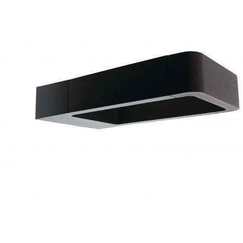 Luz LED de pared/suelo para exteriores de diseño cuadrado de grandes dimensiones y color antracita