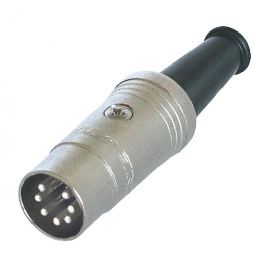 Conector DIN Macho Metal Plata