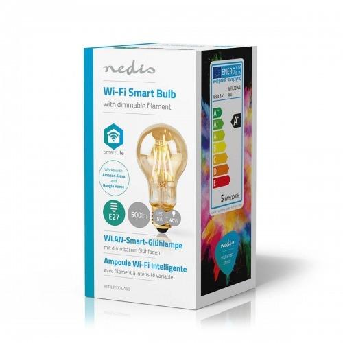 Bombilla LED Wi-Fi Inteligente de Filamento | E27 | A60 | 5 W | 500 lm