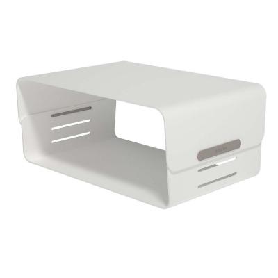 Addit Bento Canalización Vertical Del Monitor Adjustable 120 Fijo 20 Kg Blanco