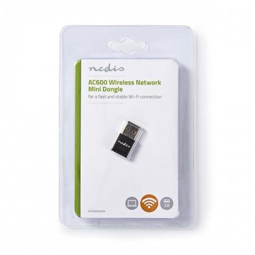 Adaptador de Red Inalámbrico + Antena   AC600   Doble Banda   Negro
