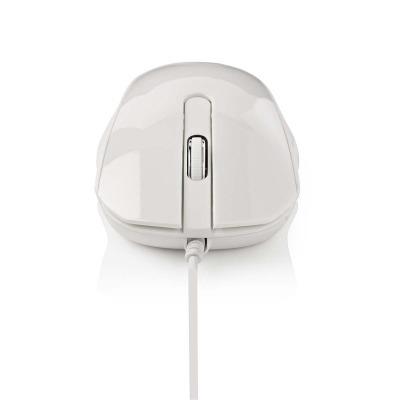 Ratón Con Cable Para Escritorio | 1000 Ppp | 3 Botones | Blanco