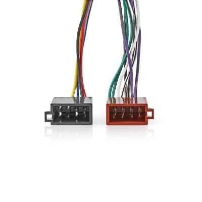Cables Iso Kenwood De 16 Pines | Conector De Radio - 2X Conector De Coche | 0,15 M | Varios Colores