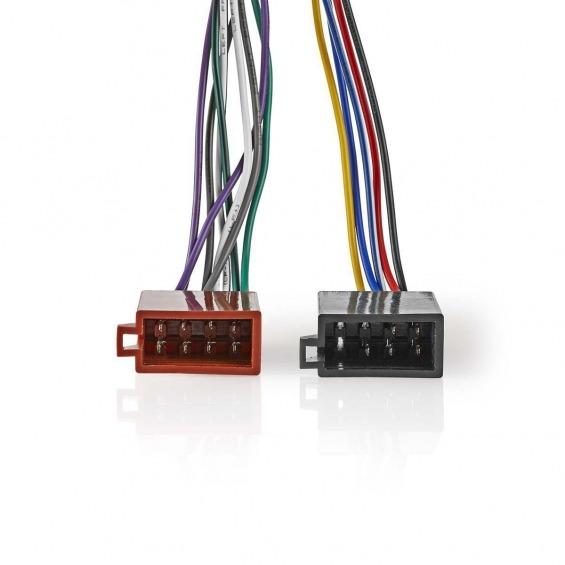 Cable ISO Sony de 16 Pines   Conector de Radio - 2x Conector de Coche   0,15 m   Varios colores