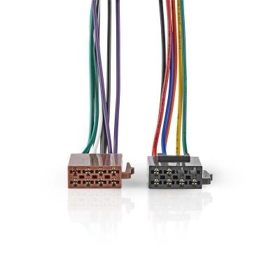 Cable Iso Estándar | Conector De Radio - 2X Conector De Coche | 0,15 M | Varios Colores