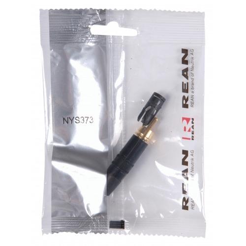 Conector RCA Macho Metal Negro