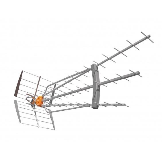 Antena de Exterior DVB-T/T2 47 dB UHF