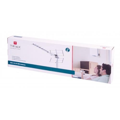 Antena de Exterior DVB-T/T2 14 dB UHF