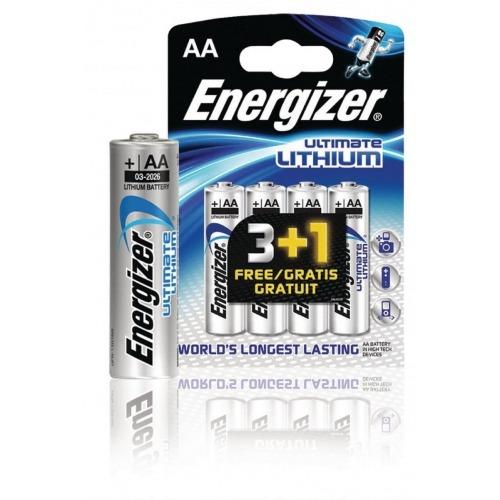 Ultimate lithium battery AA/FR6 1.5 V 3 + 1 free blister