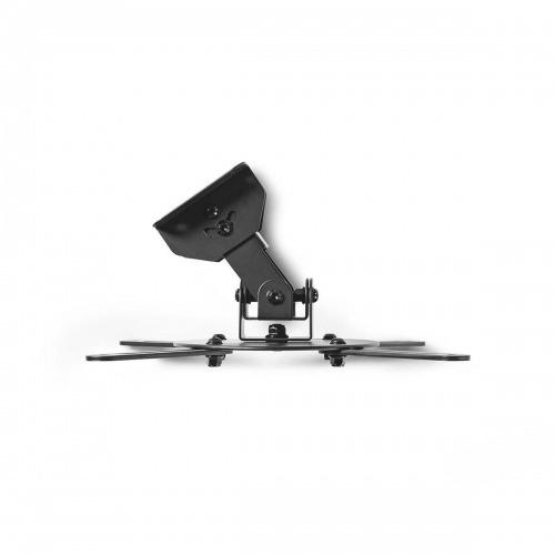 Soporte de Techo para Proyector | Capacidad de Giro de 360° | Hasta 10 kg | 130 mm de Distancia al Techo | Negro