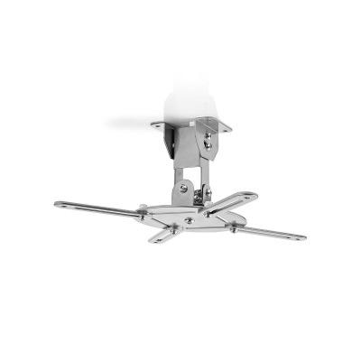 Soporte De Techo Para Proyector   Capacidad De Giro De 360°   Hasta 10 Kg   130 Mm De Distancia Al Techo   Gris