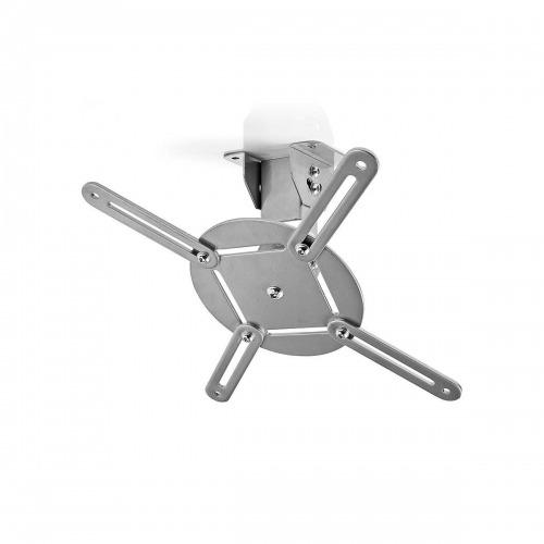 Soporte de Techo para Proyector | Capacidad de Giro de 360° | Hasta 10 kg | 130 mm de Distancia al Techo | Gris