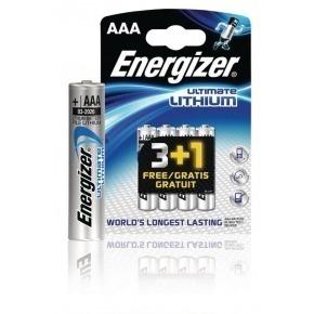 Ultimate lithium battery AAA/FR03 1.5 V 3 + 1 free blister