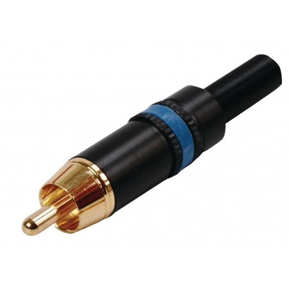 Conector de Vídeo Compuesto RCA Macho Macho Metal Negro