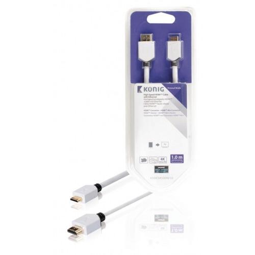 Cable de Alta Velocidad HDMI™ con Conector Ethernet HDMI™ a Conector Mini HDMI™ de 1,00m en