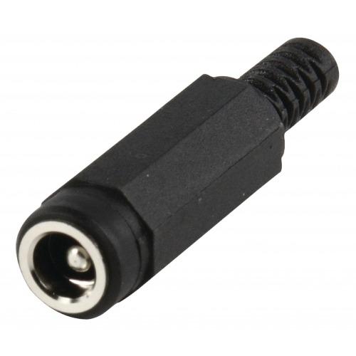 Conector de Corriente Hembra PVC Negro