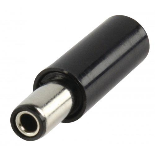 Conector de Corriente Macho PVC Negro