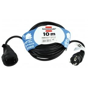 Cable de Extensión Schuko Macho - Schuko Hembra 10.0 m Negro