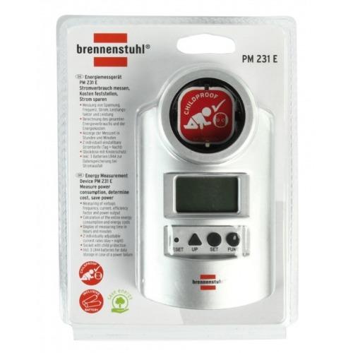 Medidor de potencia con funciones de medición y de reloj