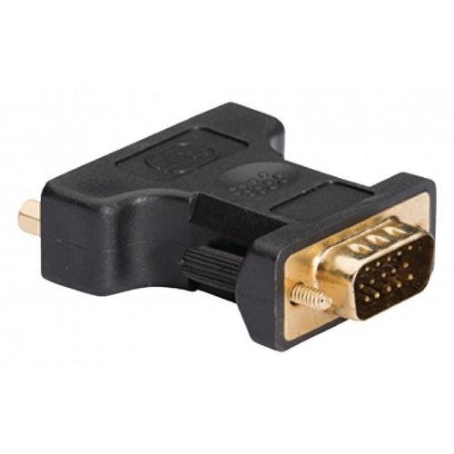 Adaptador VGA - DVI de VGA macho a DVI-I hembra; 1 ud. en gris