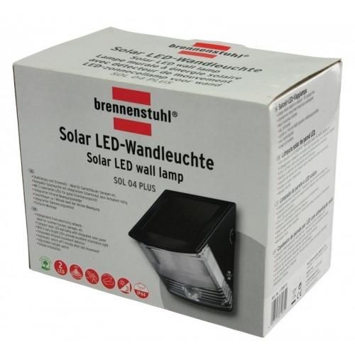 Lámpara LED solar de pared con 2 LED IP44