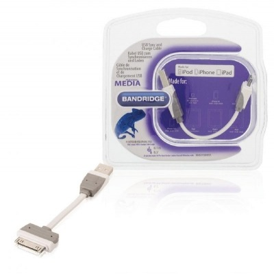 Cable Usb De Carga Y Sincronización Usb A Macho - Base De Conexión Apple De 30 Pines De 0,10 M En